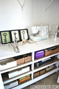 turn a dresser into shelves!