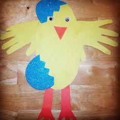 Easter Toddler craft - Chicken -n-egg