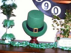 My Mantel for St. Patrick's Day
