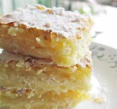 """Lemon Bars: """"This is like heaven in a pan. I made them last night and just woke up and had one, and then, two more!"""" -~Leanne~"""