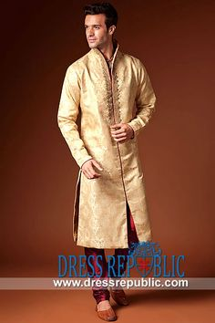 Style DRM1560 - DRM1560, Formal Men's Kurta Collection 2013, Pakistani Menswear Designers Collection 2013 by www.dressrepublic.com
