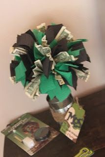 Money topiary. Fun gift idea for teens