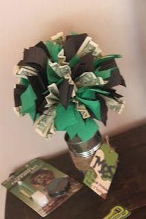 Money topiary. Fun gift idea for teens