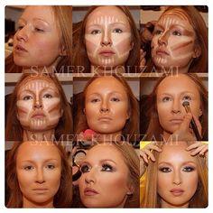 Rc cosmetics step by step tutorial highlight contour makeup samer ...