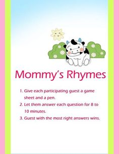 Mommy's Ryhmes