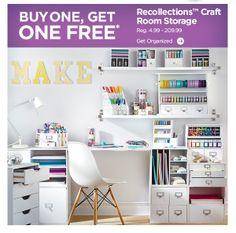 Office ideas on pinterest craft room storage storage for Recollections craft room storage amazon