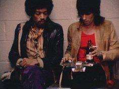 jimihendrixitinerary:    Jimi Hendrix & Keith Richards.