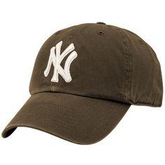 '47 Brand New York Yankees Brown Clean Up Adjustable Hat
