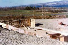 Glenora Wine Cellars ~ the cellar starts to take form in April of '77. Seneca Lake, Finger Lakes