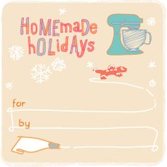 Stand Mixer Printable Gift Tag
