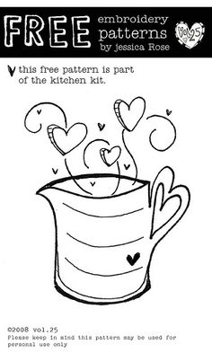 FREE embroidery kitchen pattern by vol25, via Flickr