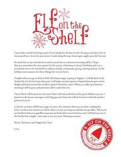 Elf on the Shelf - Goodbye Letter