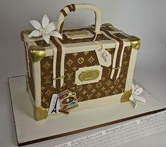 LV luggage cake