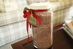 homemade cocoa mix made with chocolate pudding mix