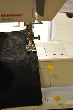 Shortening jeans while keeping original hem