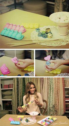 Lauren Conrad's DIY Peep Kebobs #Easter