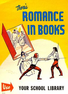 RETRO POSTER - There's Romance in Books | Flickr - Photo Sharing!