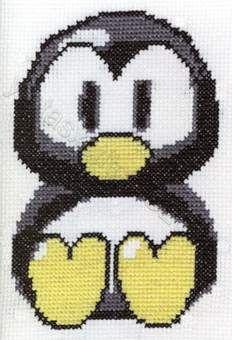penguin cross stitch free chart