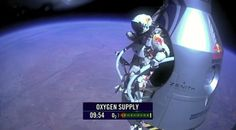 Felix Baumgartner breaks the sound barrier during skydive from a record 24 miles up