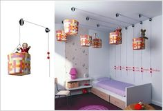 10 Fun Ideas to Decorate Your Kids room storage solutions, kid bedroom, kid rooms, room storage, organization solutions, toy storage, storage ideas, hanging baskets, kids storage