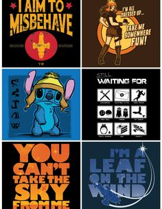 The Firefly collection is on Once Upon a Tee today.