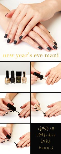 If you're counting down 'til the clock strikes midnight, you might as well do so on dazzling digits! Mani for eHow by celebrity manicurist @Elisa Wishan