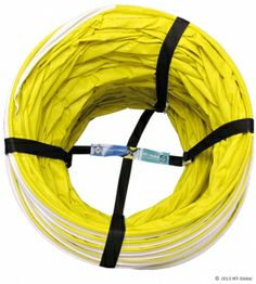 Dog Agility Tunnel Leash compacts items to a manageable size!