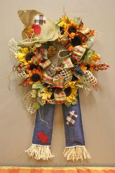 scarecrow grapevine wreath!