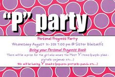 P Party - Pedicures - Personal Progress - Pictionary