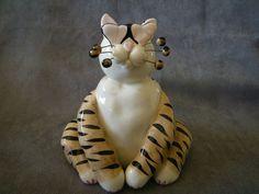 "Amy Lacombe ""Love Struck Tabby Cat"" Cat Figurine"