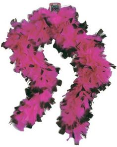 20s Pink and Black Boa at Costume Supercentre