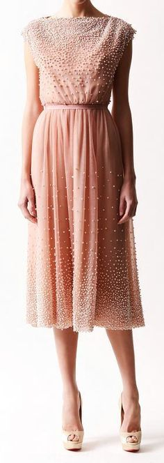 Beaded blush dress