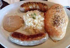 The wurst platter at Bavarian Brauhaus