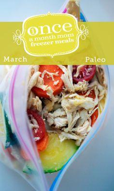 Paleo March 2013 Freezer Menu #paleo #freezer #whole30