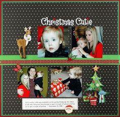 Christmas Cutie Scrapbook Layout Idea from Creative Memories!