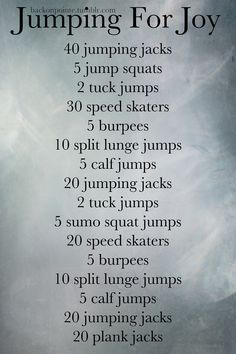 Jumping workout