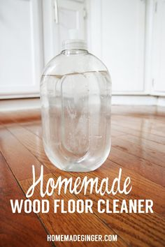 Did you know you can make household cleaners from ingredients you probably already have in your kitchen?  Take a look at this simple recipe for Homemade Wood Floor Cleaner.