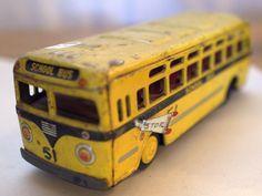 Vintage Toy School Bus