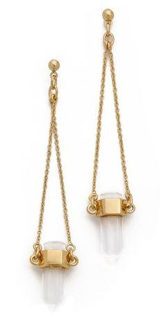 Rachel Zoe Cut Crystal Drop Earrings