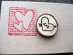 Personalized Wood Love Magnet - favors for dad to make?