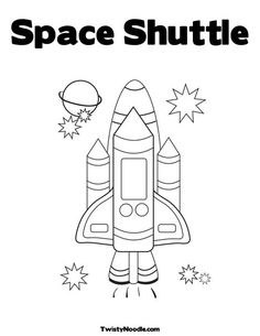 Space Shuttle Coloring Page for the story Exploring Space with an Astronaut