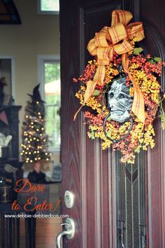 Enter if you dare Halloween decorated home.  #debbiedoos