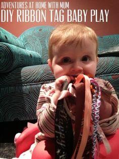 Fun ribbon play for babies