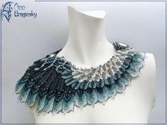 Necklace | Ann Braginsky. 'Stormy Petrel'