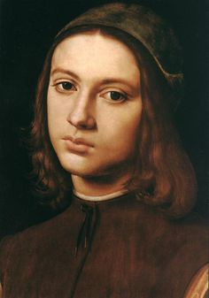 Portrait of a young man, Pietro Perugino. Italian Early Renaissance Painter (ca.1445-1523)