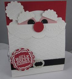 Stampin' Up! Christmas by Carol P: Holly jolly Santa gift card holder