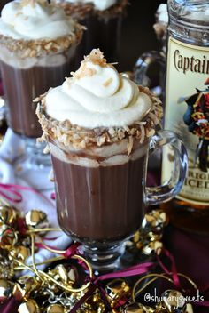 chocolates, hot chocolate, drink, coconut milk, pina colada, hot choccolada, condensed milk, whipped cream, the holiday