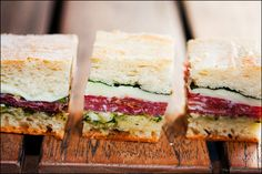 pressed picnic sandwiches. yum.