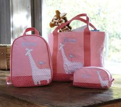 #potterybarnkids. These totes are so cute & come in handy.