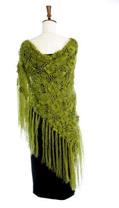 Traditional+Irish+Dress+For+Women | Handmade Crochet Shawl